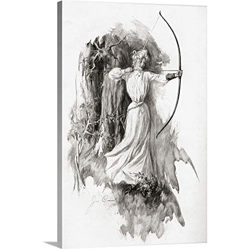 - Gallery-Wrapped Canvas Entitled A Lady Practicing Archery in 1904. from The Century Illustrated Monthly Magazine Great Big Canvas 24