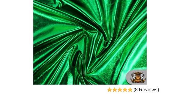 "60/"" W Spandex Metallic Fabric Green Sold by the yard"