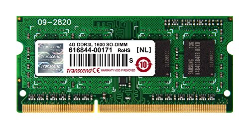 (Transcend TS512MSK64W6H 4GB DDR3L 1600 SO-DIMM Memory Module)