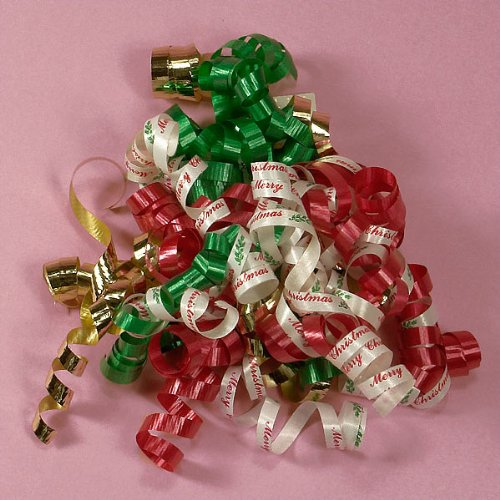 Merry Christmas Curling Ribbon Bows by Paper Mart