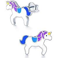 Hypoallergenic Kids Stud Earrings 925 Sterling Silver Gifts for Little Girls (Nickel Free)