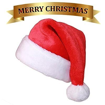 Ruimeier Christmas Costume Velvet Santa Claus Costume Suit For Adult Men Party Cosplay
