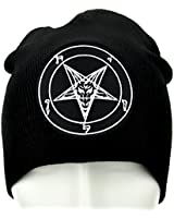 YDS Accessories Sabbatic Baphomet Goat Head Beanie Occult Clothing Knit Cap 1e3a5300dd45
