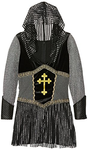Joan Of Arc Costumes (Leg Avenue Women's Joan Of Arc Costume, Black/Silver, Small)
