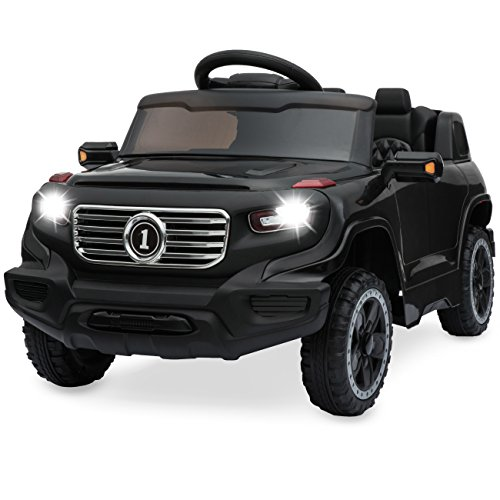 Best Choice Products Kids 6V Ride-On Truck w/ Parent Remote Control, 3 Speeds, LED Lights, Black