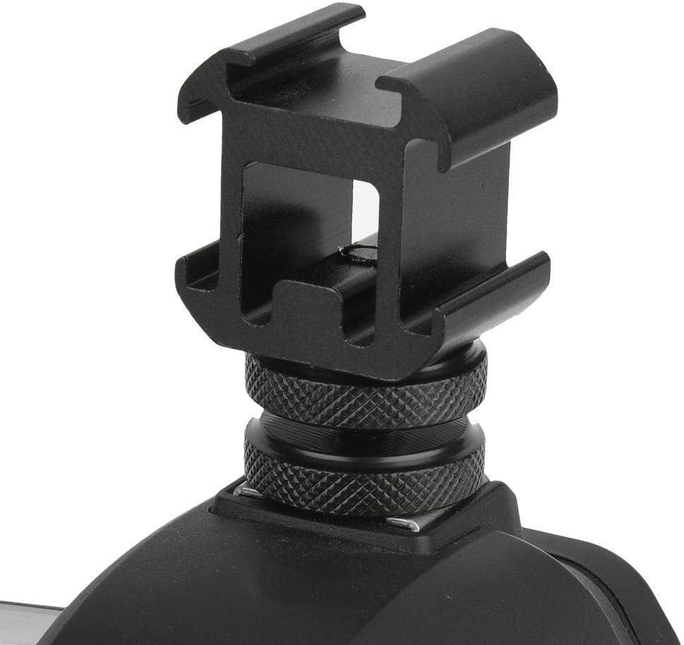Adaptador de Montaje de Base de Zapata Triple Soporte Extensor para micr/ófono//Monitor//luz de Video LED Archuu Adaptador de Montaje de Zapata Conector de Zapata para c/ámaras de Zapata