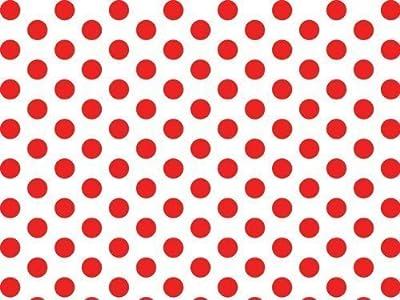 """Red & White Polka Dot Tissue Paper - 20"""" x 30"""" - 24 XL Sheets"""