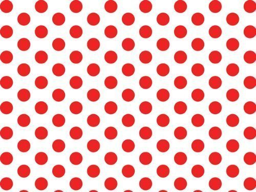 Red and White Polka Dot Tissue Paper - 20 Inch x 30 Inch - 24 XL Sheets