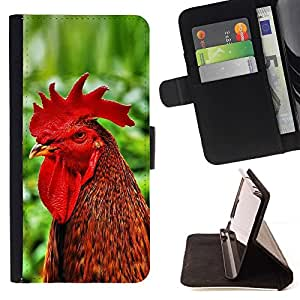 Momo Phone Case / Flip Funda de Cuero Case Cover - Buena Divertida Gallo Gallo - HTC Desire 626