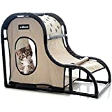 """MILLIARD Cat Play House & Kitty Condo Bed Center: PVC Pipe Shelter Hideout Cave for Climbing, Scratching, Sleeping or Playing 33 x 17 x 24"""""""