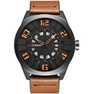[Sponsored]2017 New CURREN Men Watch Fashion Luxury Sport Male Military Wristwatch Brown Leather...