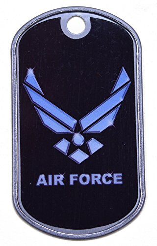 Air Force - Single Hole - Regular Size Dog Tag - Great for Necklaces ()