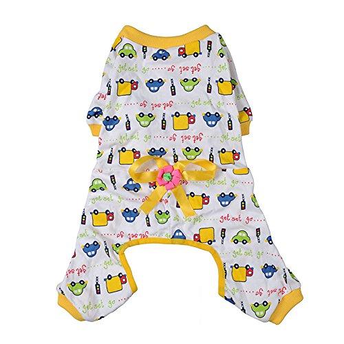Delight eShop Cozy Pajamas Dog Clothes Jumpsuit Pet Apparel Puppy Shirt Soft Cat Clothing (L) (S) (Wonder Woman Dog Costume)