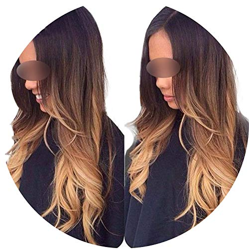 Get-in Lace front Human Hair Wig Remy peruvian wavy Hair 130% Density Ombre Color 3T 1b/4/27 Human Hair Wig Baby -
