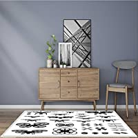 Extra Thick Comfortable Rug drones vector illustration icons and logos set for Living Room Dining Room Family W35.5 x L59 INCH