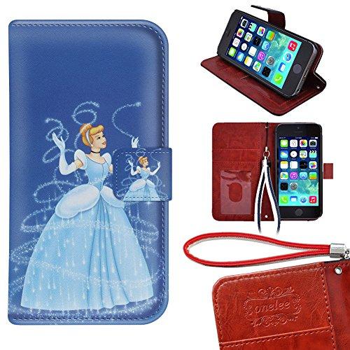 iPod Touch 5 Wallet Case, Onelee - Disney Princess Cinder...