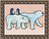 "Noah's Ark and Jungle Animal Nursery Art Prints (11""x14"", Polar Bears)"