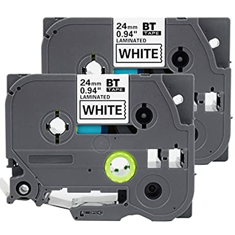 2PK Onirii Compatible Brother p touch TZ251 TZe251 TZ-251 label Tape(0.94