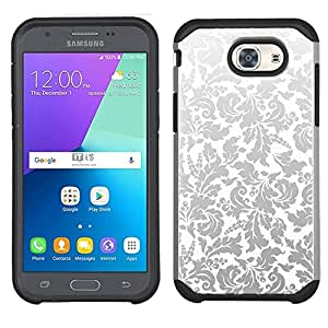 amazon com samsung galaxy j3 emerge case black vine damask