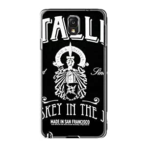 Scratch Resistant Hard Phone Case For Samsung Galaxy Note3 With Provide Private Custom Trendy Metallica Band Image TimeaJoyce