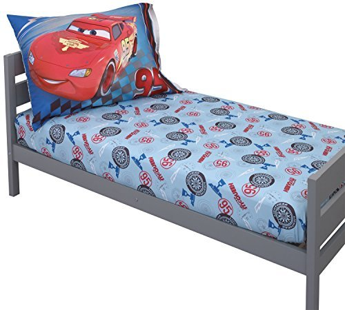 Disney-Pixar-Cars-Toddler-Sheet-Set-Lightning-McQueen