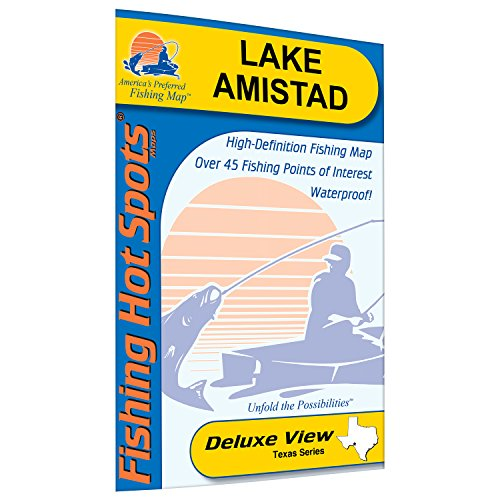 Lake Amistad Fishing Map by Fishing Hot Spots