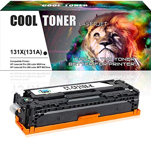 Cool Toner Compatible Toner Cartridge Replacement for HP 131X CF210X 131A Black Toner for HP Laserjet Pro 200 Color M251nw, HP Pro 200 Color Mfp M276nw M276n, Canon MF8280Cw LBP7110Cw Printer-Black