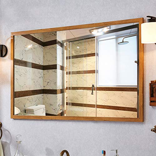 Large Rectangular Bathroom Mirror, Modern Fashion Wall Mirrors, Wall-Mounted Vanity Mirror Makeup -