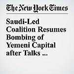 Saudi-Led Coalition Resumes Bombing of Yemeni Capital after Talks Collapse | Rod Nordland