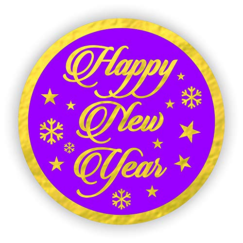 Happy New Year Stickers 2019 Seals Labels (Pack