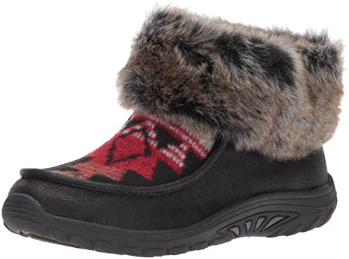Skechers Women's Reggae Fest-Havasupai Boot,Black,9.5 M US