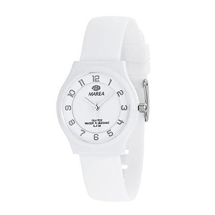 Este reloj marca Marea tiene una caja de plástico con un diámetro de 32 mm  y cuenta con una correa de silicona. Dentro de la caja se encuentra un  mecanismo ... e9e9a2d43e5d
