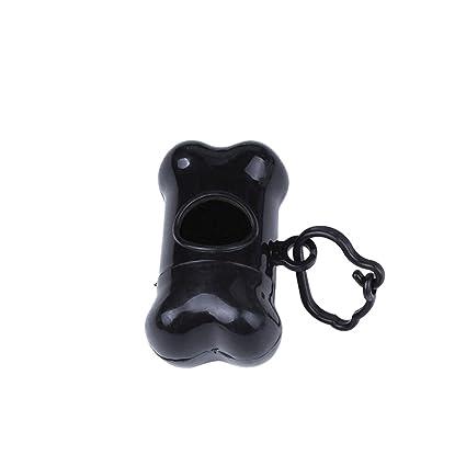 UEETEK dispensador de bolsas de excrementos de perro con forma de hueso para Animal de compañía