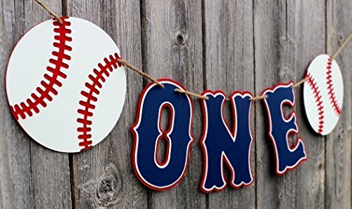 Baseball High Chair Banner - Photo Prop Banner - Birthday Party Decorations