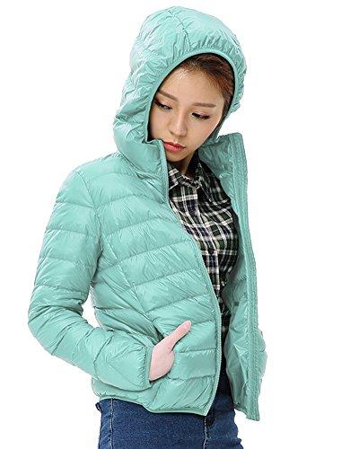 Veste Pink Doudoune Manteau Capuche Blouson Chaud Femme Bleu À Ultra Compressible Légère Hiver pnwx6d0O