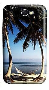 Samsung Note 2 Case Beach Paradise 3D Custom Samsung Note 2 Case Cover