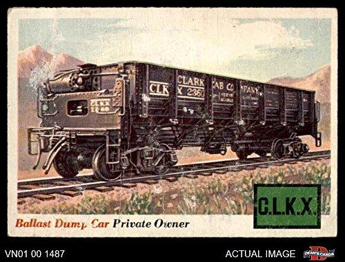 1955 Topps Rails & Sails # 10 Ballast Dump Car (Card) Dean's Cards 2 - GOOD 3210030 Ballast Dump Car