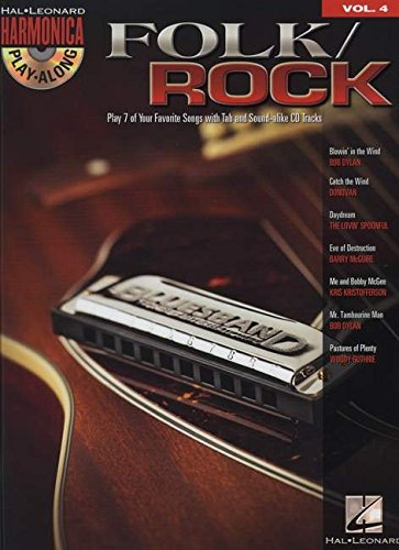 Folk/Rock - Harmonica Play-Along Volume 4 Book/CD (Diatonic Harmonica)