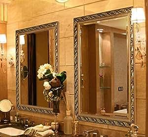 Large makeup vanity wall mirror hans alice - Large horizontal bathroom mirrors ...