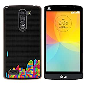 "Be-Star Único Patrón Plástico Duro Fundas Cover Cubre Hard Case Cover Para LG L Prime / L Prime Dual Chip D337 ( Tetris Computer Gaming Retro Imágenes antiguas de Colores"" )"