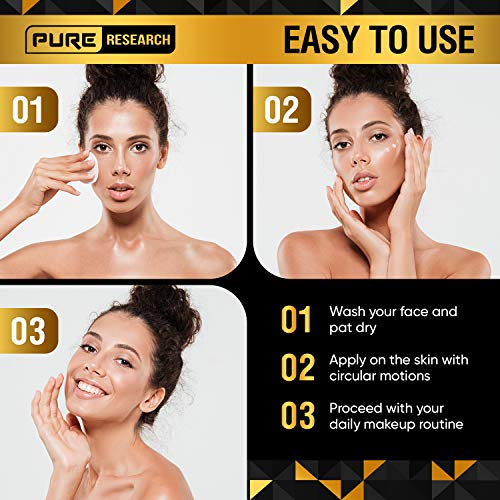 Collagen & Retinol Cream - Anti Aging Cream for Face w/ Hyaluronic Acid - Anti Wrinkle Day & Night Retinol Moisturizer - 1.7 oz