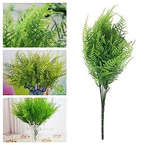 Goodjobb Verisimilar 7 Branches Artificial Fern Plant Floral Decor Green Decorative 3