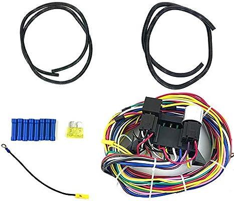 Gorgebuy Arnés de cableado Universal de 12 circuitos Muscle Car ...