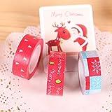Bazaar Creative Christmas Tree Snowflake Tape Decorative Adhesive Washi Tape Masking Sticker DIY Tools