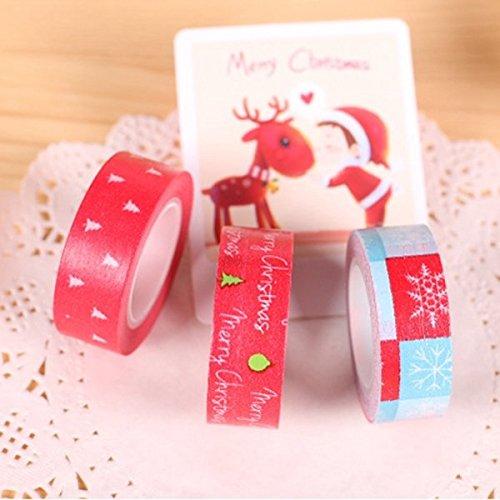 Bazaar 1 x Either Christmas Tree Snowflake Tape Decorative Adhesive Washi Tape Masking Sticker DIY Tools Big Bazaar