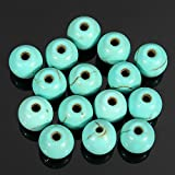 LILACORP 100Pcs 6mm Natural Round Beads DIY Necklace Bracelet Turquoise Spacer Loose Charms Jewelry Garment Beads DIY Accessories