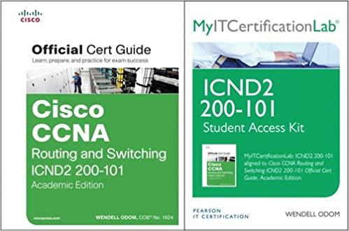 Cisco CCNA R&S ICND2 200-101 Official Cert Guide Wth MyITCertificationLab Bundle
