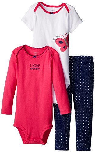 58977371991 Carter s Baby Girls  3 Pc Turn Me Around Set - Navy Butterfly - 9 Months