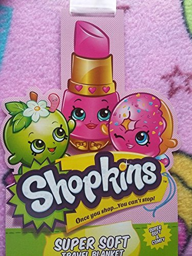 [Shopkins 2016 SUPER SOFT Travel Blanket] (Homemade Kids Halloween Costumes 2016)