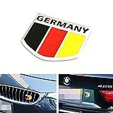 iJDMTOY (1) Germany Black Red Yellow Badge For European Cars Audi BMW MINI Mercedes-Benz Porsche Volkswagen Decoration